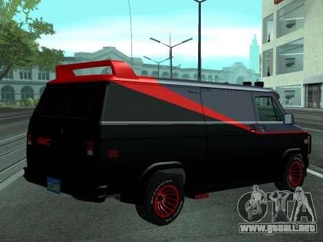 GMC The A-Team Van para GTA San Andreas left
