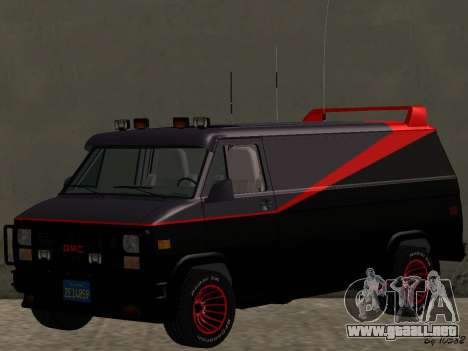 GMC The A-Team Van para GTA San Andreas