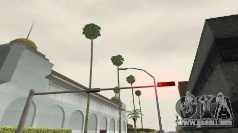 Las carreteras y de la vegetación de Los Santos para GTA San Andreas quinta pantalla
