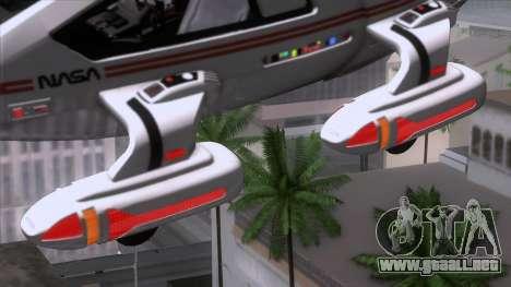 Shuttle v2 Mod 2 para GTA San Andreas vista posterior izquierda