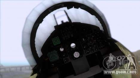 F-15C Camouflage Pack para GTA San Andreas vista hacia atrás