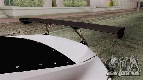 Subaru BRZ para GTA San Andreas vista hacia atrás