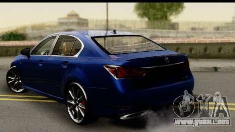 Lexus GS350 para GTA San Andreas left