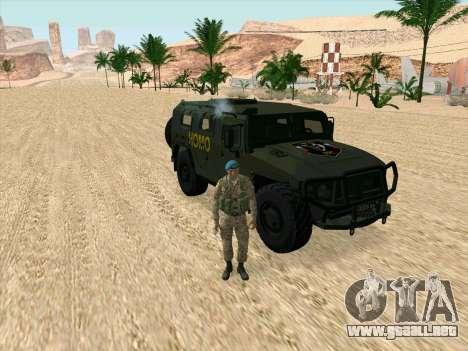 GAZ 2975 para la visión correcta GTA San Andreas