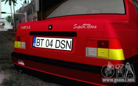 Dacia SuperNova para GTA San Andreas vista hacia atrás