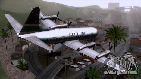 L-188 Electra Air New Zealand para GTA San Andreas left