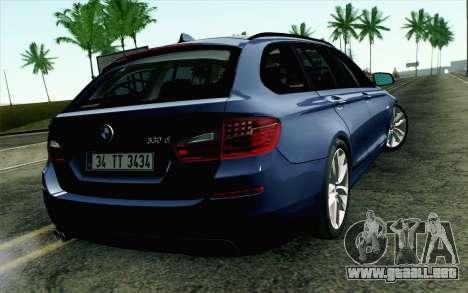 BMW 530d F11 Facelift HQLM para GTA San Andreas left