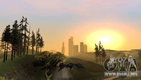 La oportunidad de jugar para aves v2 para GTA San Andreas octavo de pantalla