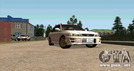 Subaru Impreza Sports Wagon WRX STI para visión interna GTA San Andreas
