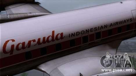 L-188 Electra Garuda Indonesia para la visión correcta GTA San Andreas