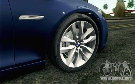 BMW 530d F11 Facelift HQLM para GTA San Andreas vista posterior izquierda