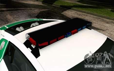 Audi R8 V8 FSI 2014 Dubai Police para GTA San Andreas vista hacia atrás