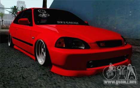 Honda Civic DRY Garage para GTA San Andreas