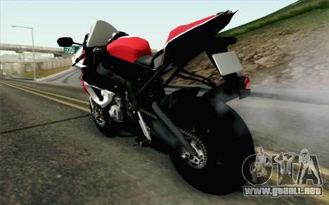 BMW S1000RR HP4 v2 Red para GTA San Andreas left