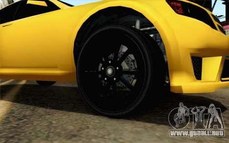 GTA 5 Cheval Fugitivo FIV АПП para GTA San Andreas vista posterior izquierda