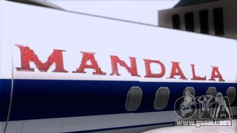 L-188 Electra Mandala Airlines para GTA San Andreas vista hacia atrás