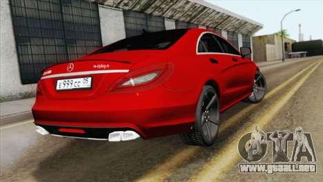Mercedes-Menz CLS63 AMG para GTA San Andreas left