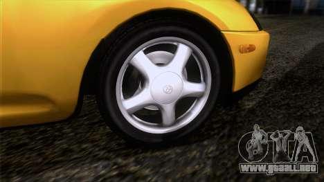 Toyota Supra S-Spec (JZA80) 1993 ECO de la apt para GTA San Andreas vista posterior izquierda