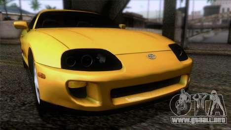 Toyota Supra S-Spec (JZA80) 1993 ECO de la apt para GTA San Andreas vista hacia atrás