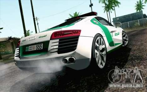 Audi R8 V8 FSI 2014 Dubai Police para GTA San Andreas left
