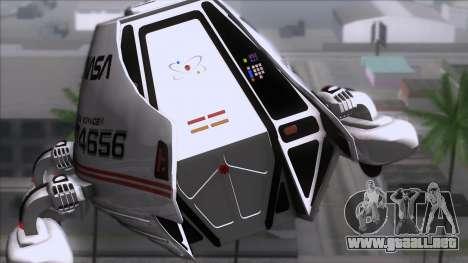 Shuttle v2 Mod 2 para GTA San Andreas vista hacia atrás