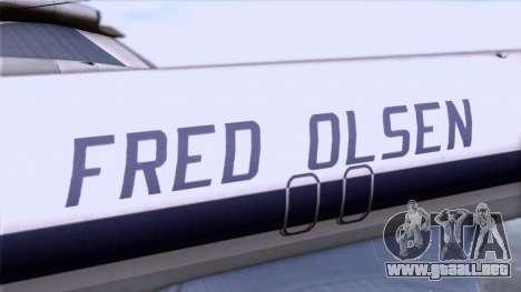 L-188 Electra Fled Olsen para la visión correcta GTA San Andreas
