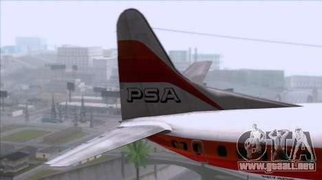 L-188 Electra PSA para GTA San Andreas vista posterior izquierda