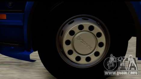 Scania G 4х6 para GTA San Andreas vista hacia atrás
