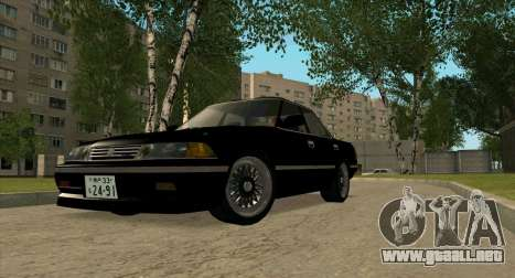 Toyota Mark II 2.5GT TwinTurbo (JZX81) para GTA San Andreas left