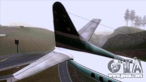 L-188 Electra Air New Zealand para GTA San Andreas vista posterior izquierda