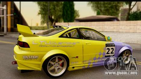 Acura Integra Type R 2001 para GTA San Andreas vista hacia atrás