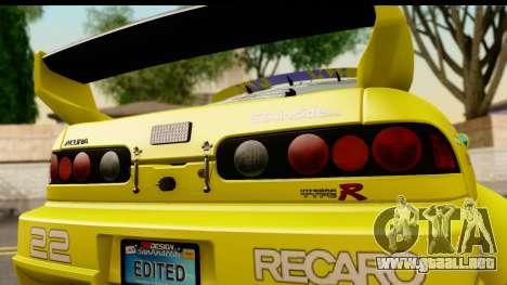 Acura Integra Type R 2001 para la visión correcta GTA San Andreas
