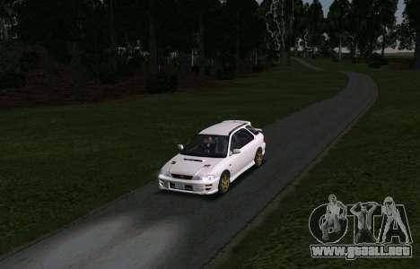 Subaru Impreza Sports Wagon WRX STI para GTA San Andreas vista hacia atrás