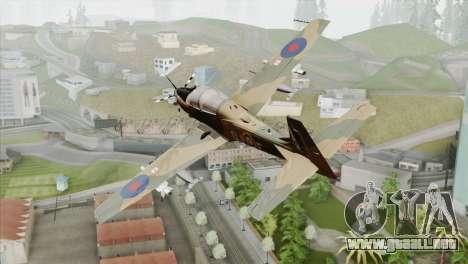 Embraer A-29B Super Tucano RAF para GTA San Andreas left