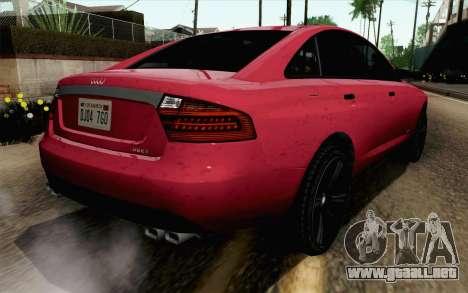 GTA 5 Obey Tailgater v2 SA Style para GTA San Andreas left