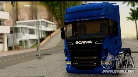 Scania G 4х6 para GTA San Andreas vista posterior izquierda