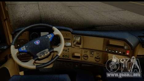 Scania G 4х6 para visión interna GTA San Andreas