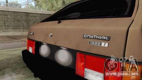 VAZ 2108 para GTA San Andreas vista hacia atrás