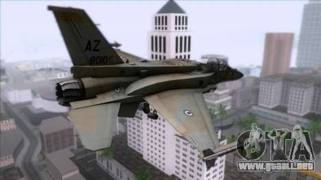 F-16F Fighting Falcon United Arab Emirates para GTA San Andreas left