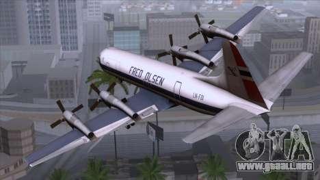 L-188 Electra Fled Olsen para GTA San Andreas left