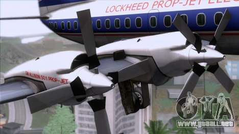 Lockheed L-188 Electra para la visión correcta GTA San Andreas