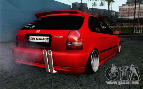 Honda Civic DRY Garage para GTA San Andreas left