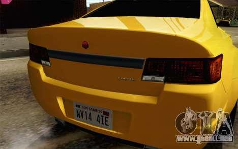 GTA 5 Cheval Fugitivo FIV АПП para GTA San Andreas vista hacia atrás