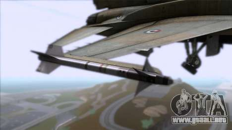 F-16F Fighting Falcon United Arab Emirates para la visión correcta GTA San Andreas