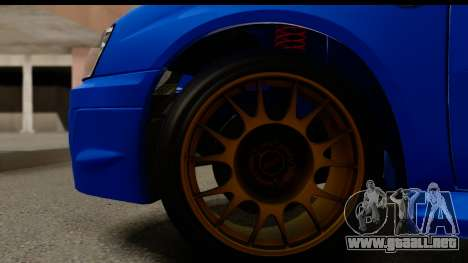 Subaru Impreza WRX STI 2004 para GTA San Andreas vista hacia atrás