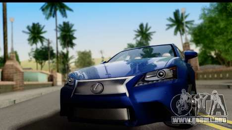 Lexus GS350 para GTA San Andreas vista posterior izquierda