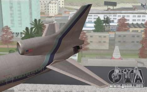 Lookheed L-1011 Eastern Als para GTA San Andreas vista posterior izquierda