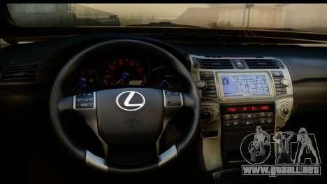 Lexus GX460 para visión interna GTA San Andreas