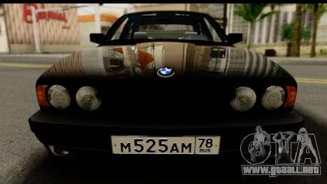 BMW M5 E34 para GTA San Andreas vista posterior izquierda