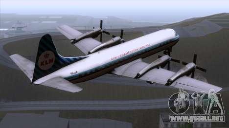 L-188 Electra KLM v1 para GTA San Andreas left
